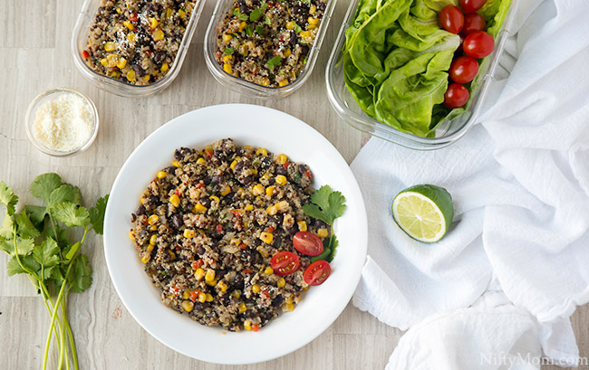 Quinoa & Black Bean Salad {Lettuce Wraps, Side Dish, Meal Prep & More}