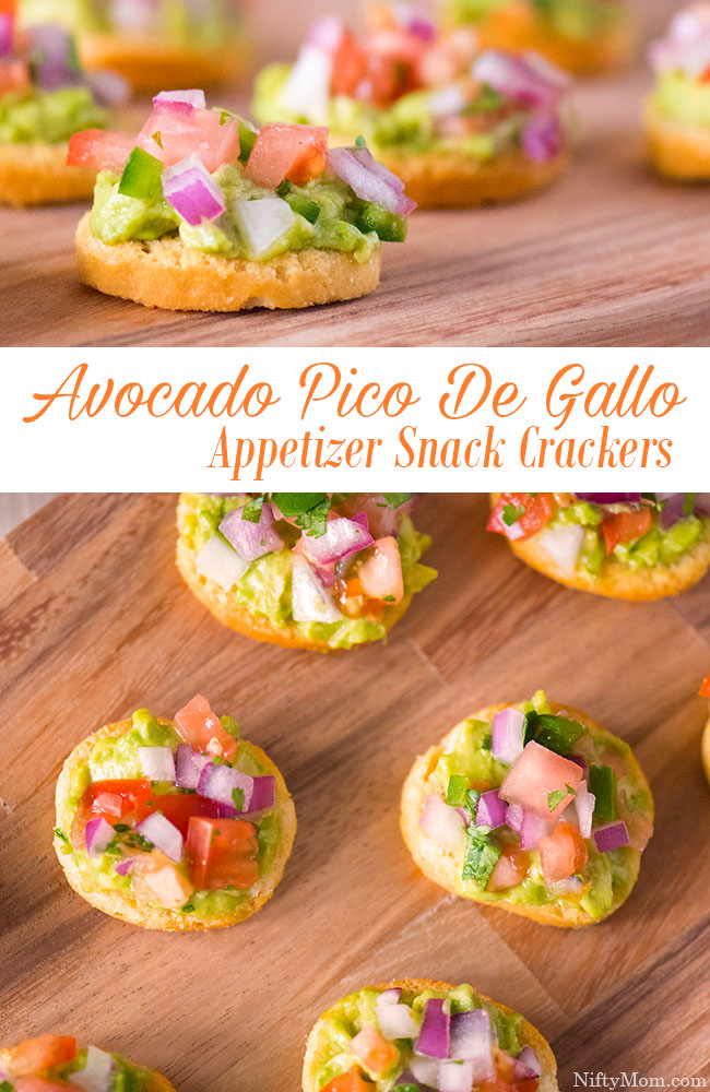 Avocado Pico De Gallo Appetizer Snack Crackers