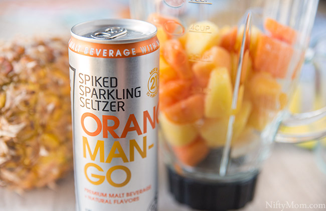 Low Calorie Spiked Tropical Slushies & Ice Pops (using spiked sparkling seltzer)