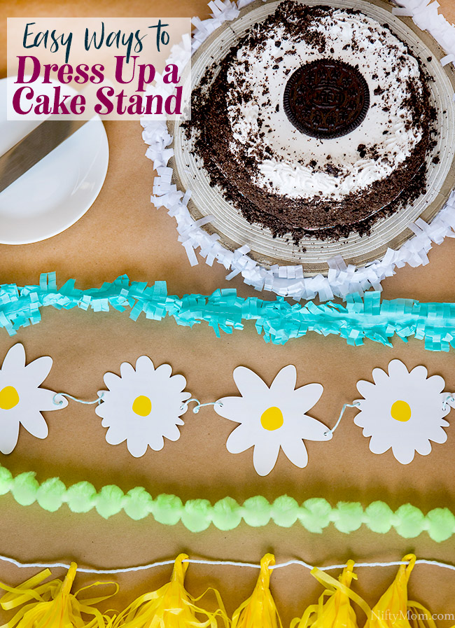 Easy Ways to Dress Up a Cake Stand