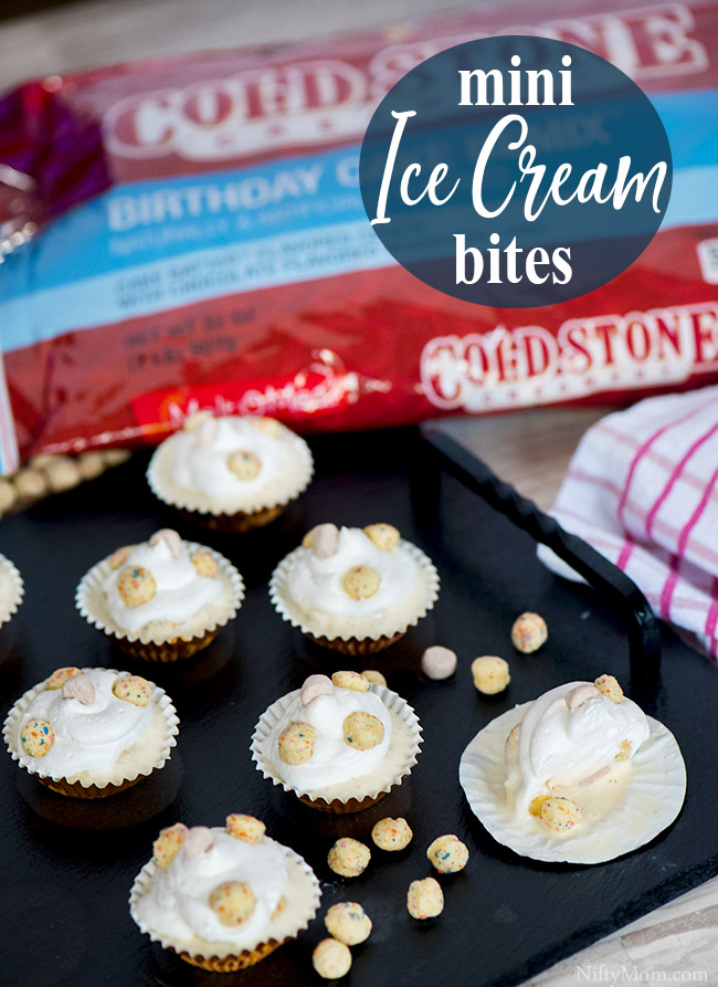 Mini Ice Cream Bites {Easy Dessert Idea}