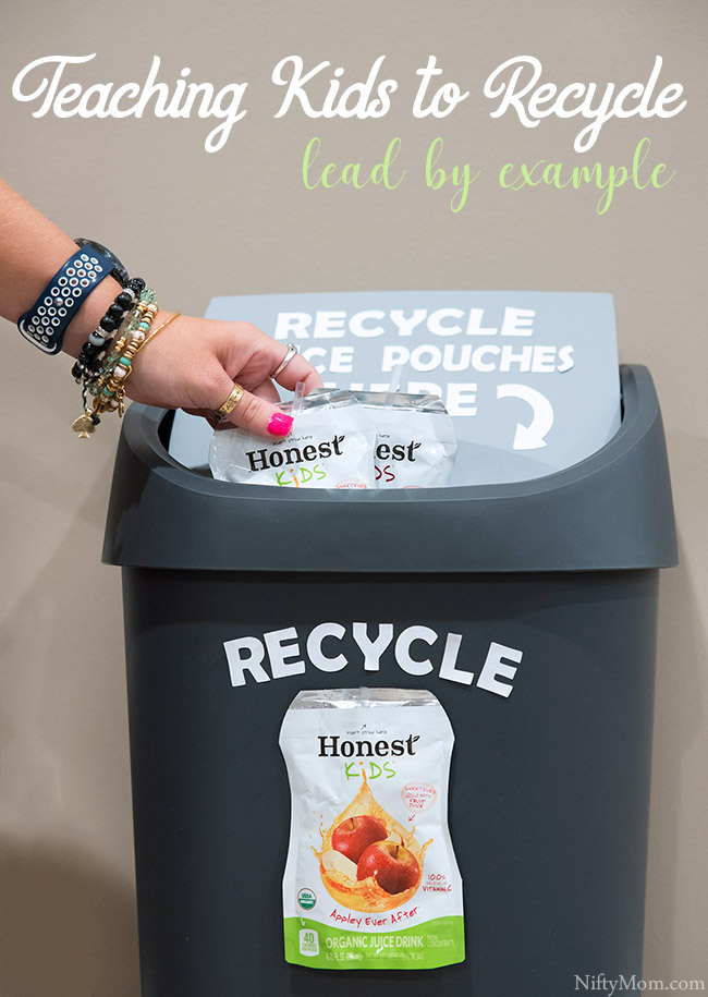 Teaching Kids to Recycle {Lead by Example} - Recycle empty juice pouches. It is free and easy!