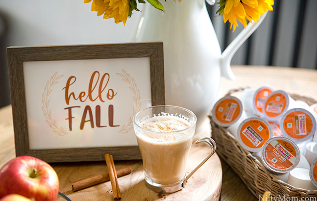 Fall Coffee Bar Ideas {Free 'Hello Fall' Printable Sign}