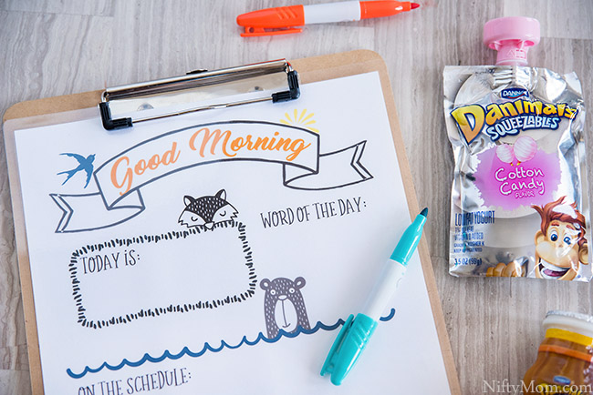 Print this FREE kids morning sheet to help morning routines and motivate the kids along the way.