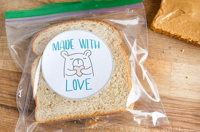 Free Printable 'Made with Love' Lunchbox Stickers