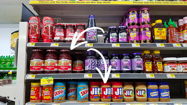 Jif & Smucker's at Dollar General