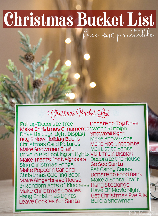 Printable Family Christmas Traditions & Bucket List