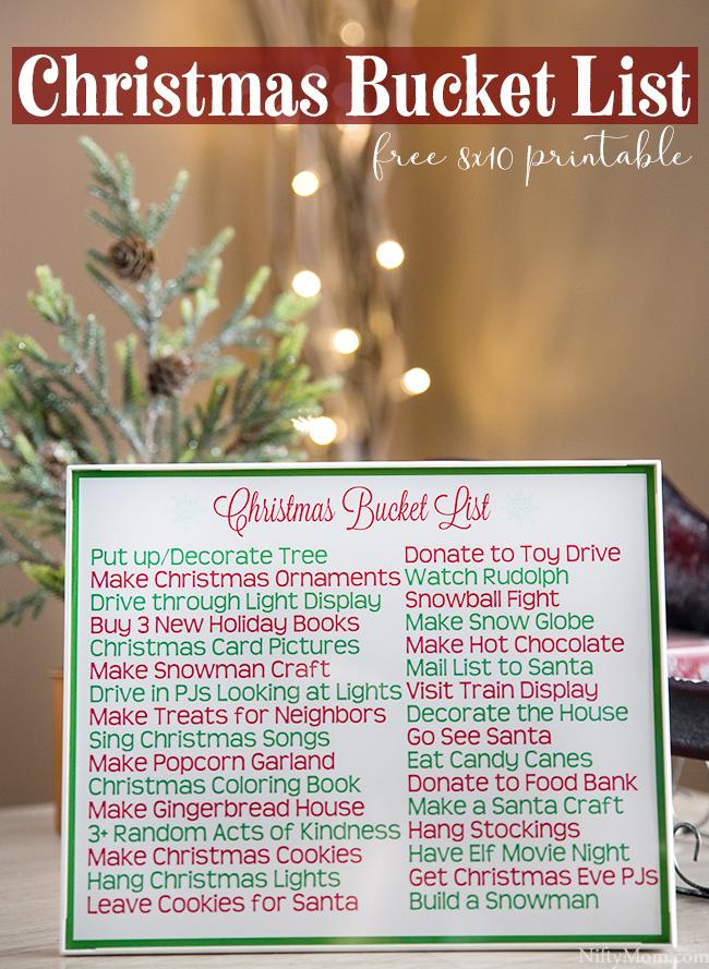 Printable Family Christmas Traditions & Bucket List