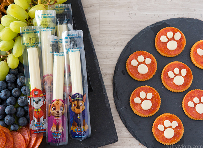 Easy Kids Snack Platter with a Paw Print Snack Idea