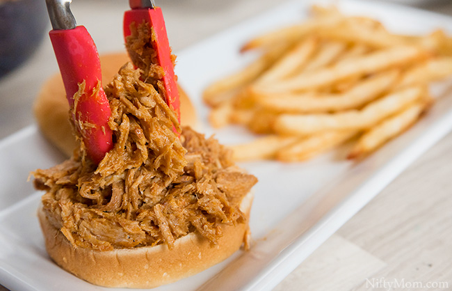 Easy Pulled Pork Sliders Topped with Fries