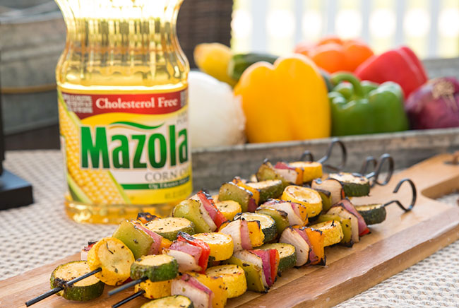 Grilled Italian Marinated Vegetable Skewers