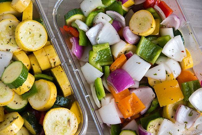 Grilled Italian Marinated Vegetable Skewers