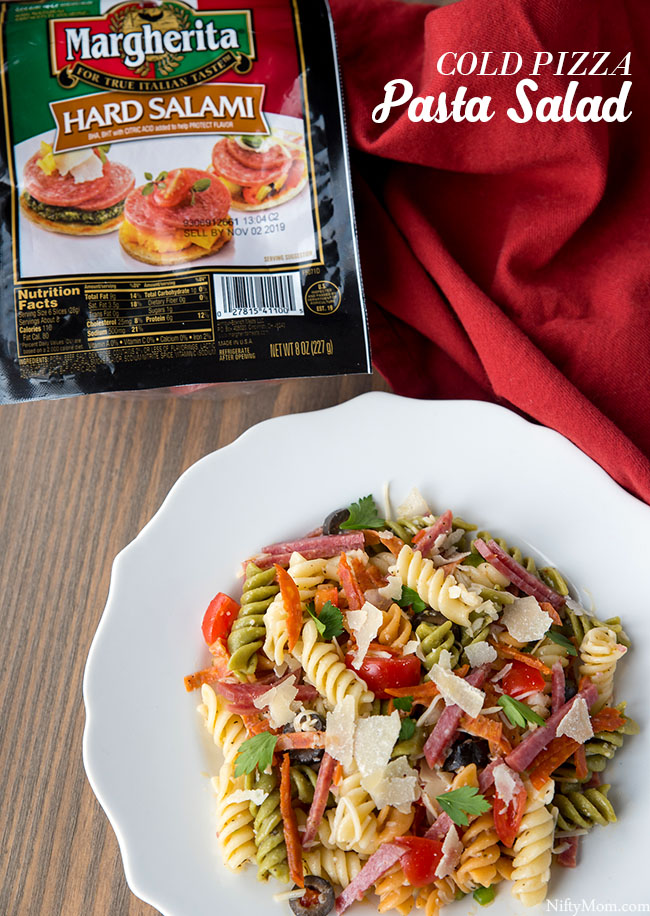 Easy Cold Pizza Pasta Salad Recipe
