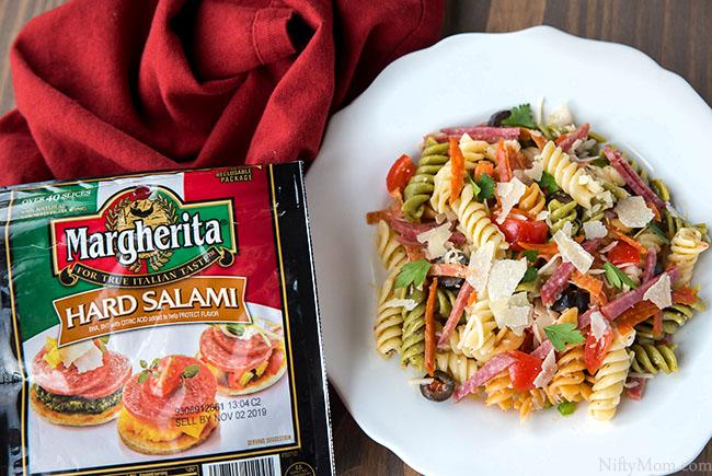 Easy Cold Pizza Pasta Salad Recipe