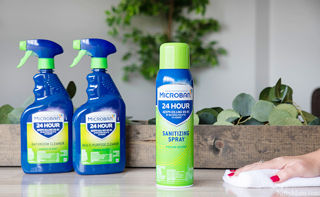 Meet Microban 24 - The 24-Hour Antibacterial Sanitizing Products