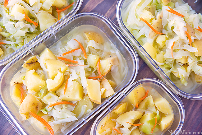 Easy Potato & Cabbage Soup - Great for Meal Prep