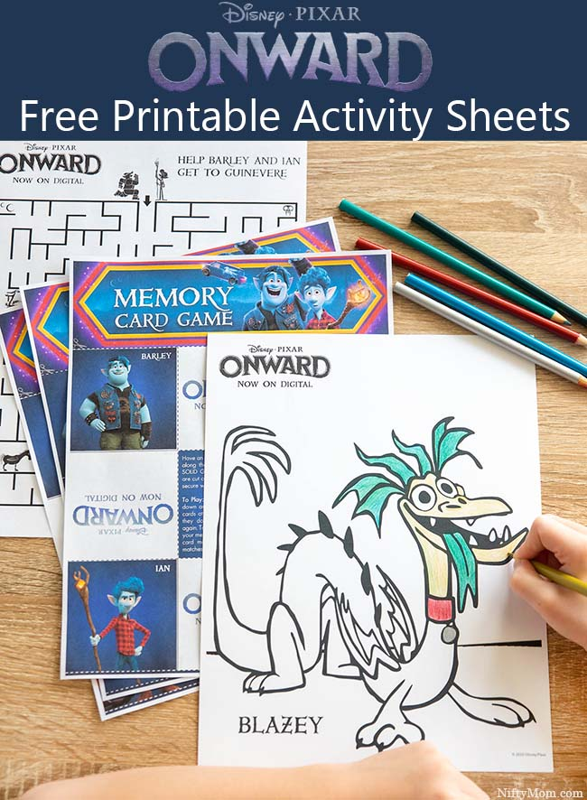 ONWARD Movie Night - Free Printable Activity & Coloring Sheets