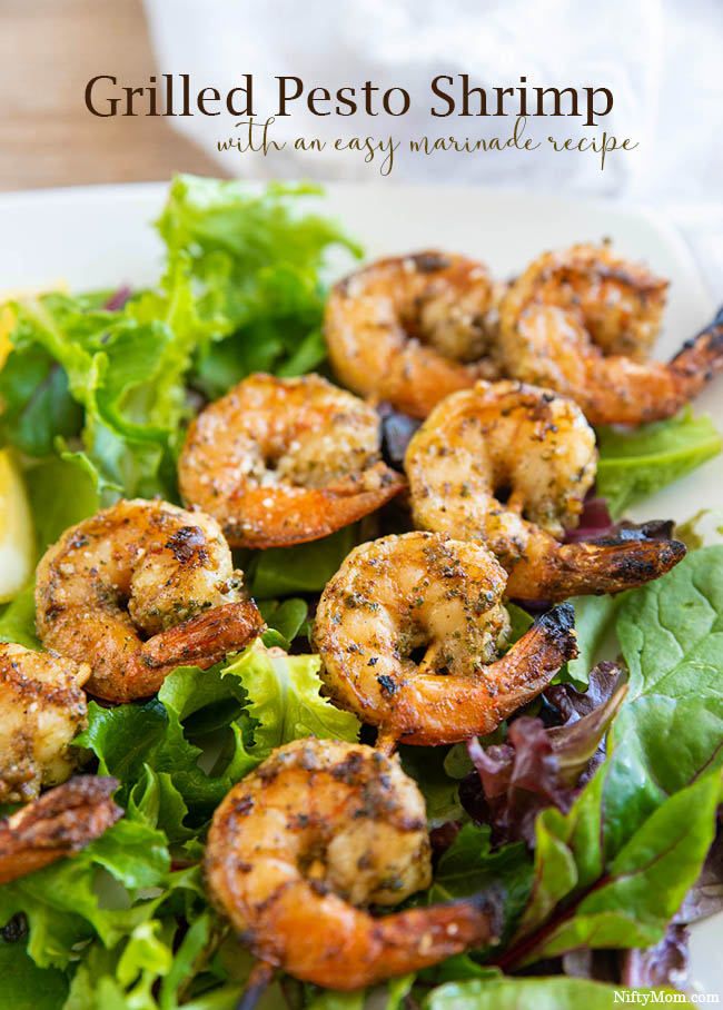 Grilled Pesto Shrimp - With an Easy Pesto Marinade Recipe