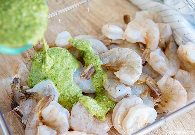 Grilled Pesto Shrimp - With an Easy Pesto Marinade Recipe